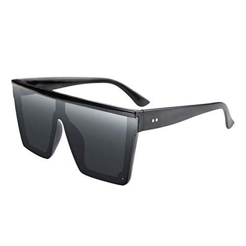 FEISEDY Gafas de sol de Lente Siamés de Moda para Hombr y Mujer Estilo Cuadrado Sucinto UV400 Gafas de sol Con Tapa Plana B2470 a buen precio