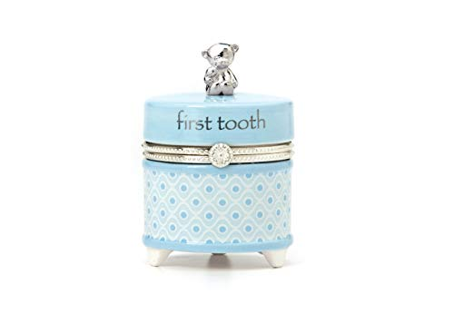 1st Tooth Box - Nat and Jules First Tooth Keepsake Box, Blue