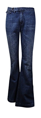 Polo Ralph Lauren Womens Denim Whisker Wash Flare Jeans Blue 29 (Lauren Denim Polo Ralph)