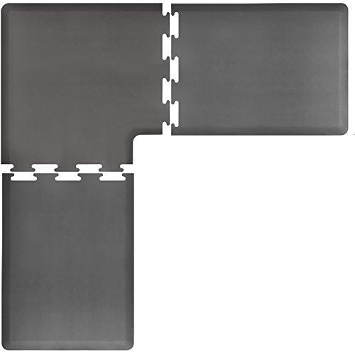 WellnessMats PuzzlePiece Collection L Series Grey Anti-Fatigue Mat, 7 x 7 Foot by WellnessMats
