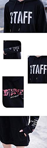 Autunno Slim Colori Stripe Sweatshirts Coulisse Hoodie Donna Stlie Outerwear Solidi Pullover Felpe Invernali Elegante Manica con Moda Lunga Cappuccio Fit Grazioso con 0xUnqaZ8wA
