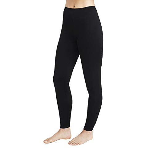 - Cuddl Duds Women's Softwear with Stretch Legging, Black, X-Large