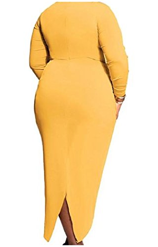 coolred-women-long-sleeve-plus-size-ruffle-forked-tail-maxi-dress-yellow-l