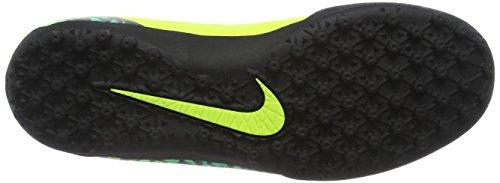 Nike Men's Hypervenom Phelon Ii Tf Football Boots, Weiß,Schwarz,Rosa Yellow (Volt/Hyper Turquoise/Clear Jade/Black)