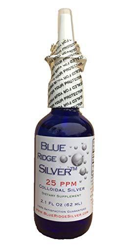 -  Blue Ridge Silver 25 ppm, 2.1 oz Colloidal Silver Vertical Spray