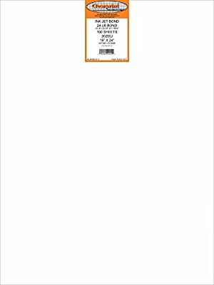 Clearprint 3020IJ Opaque Bond Sheets, 20 lb., 18 Inches x 24 Inches, 100 Sheets Per Pack, 1 Pack (33201522)