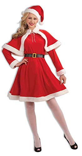 Forum Novelties Women's Sweet Miss Santa Suit, Red/White, One Size Costume ()