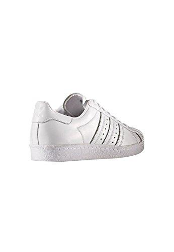 Baskets Toe Femme Adidas 80's Superstar Blanc Metal White Mode wzxXpAq
