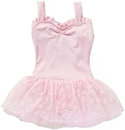 Capezio Little Girls\' Sweetheart Tutu Dress, Pink Flower, Large