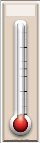 Fundraising Thermometer - General Party Large Cardboard Cutout / Standee / Standup by Starstills UK - Party Cardboard Cutouts