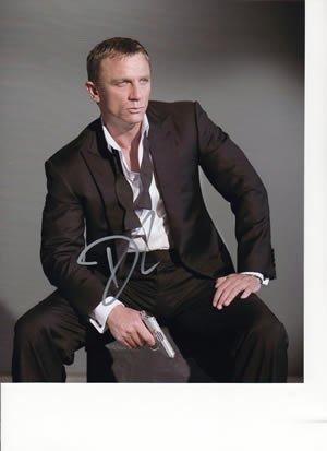 Daniel Craig Signed As James Bond 007 Casino Royale At