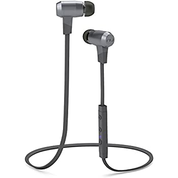 Optoma NuForce BE6i Wireless Bluetooth Headphones with aptX, AAC and Long Battery Life, Grey
