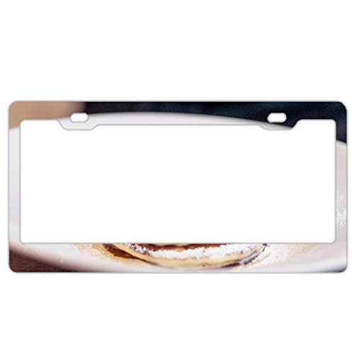 - KSLIDS Pancakes Raspberry Sprinkling License Plate Frame Slim Alumina
