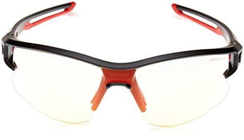 Julbo Aero Sonnenbrille Herren, Schwarz/Schwarz Logo Gelb OG/JO