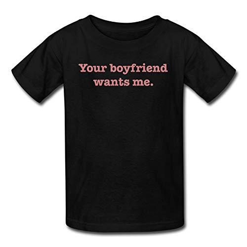 LingBer Your Boyfriend Wants ME Kids Girls Boys T-Shirt
