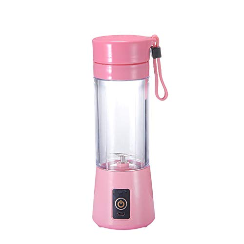 Portable Juicer Electric Mini Home Travel Car Multi-Function Juicer USB Charging Crusher (2 Leaves),Pink