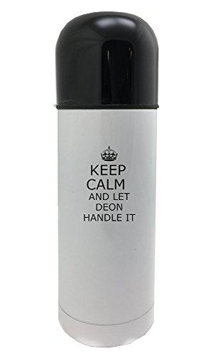 Handle it DEON Keep calm 350ml white thermos