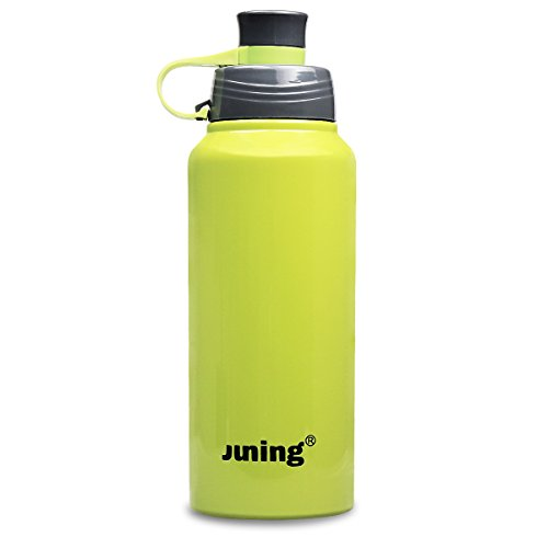 Stainless Steel Sports Water Bottle Double Wall Vacuum Sealed 32 Oz JUNING