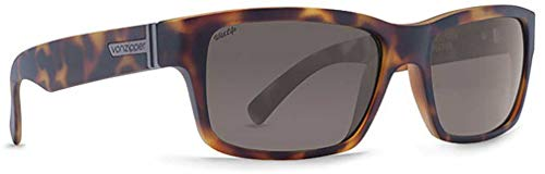 (Von Zipper Fulton Wildlife Polarized Sunglasses-Tortoise Satin-Vintage Grey)