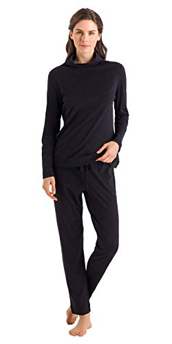 HANRO Women's Liara Long Sleeve Pajama Set, Phantom, Medium