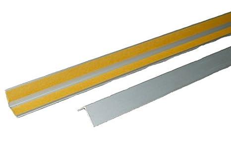 Perfil en ángulo (aluminio protector para papel pintado borde esquina Protector Perfil perfil Protector de bordes Plata anodizado autoadhesiva aluminio: ...