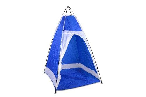 Duschkabine Duschzelt Camping blau weiß Zelt Gerätezelt 140 x 140 x 205 cm