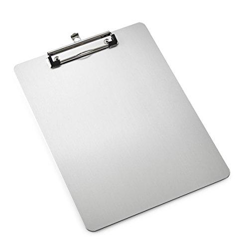 AdirOffice Aluminum Clipboard - 8.5 x 11 - Rugged Slim Profile - Heavy Duty - Lightweight -
