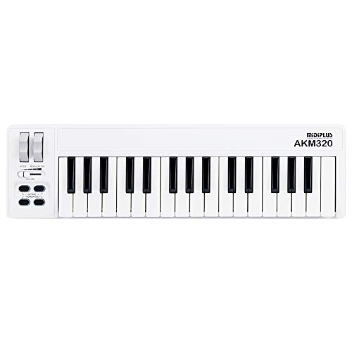 midiplus AKM320 32 key MIDI Keyboard Controller, white