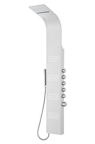 "Blue Ocean 66.5"" Stainless Steel SPS8727 Thermostatic Shower Panel with Rainfall Shower Head"