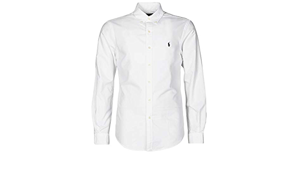 Camisa Polo Ralph Lauren Oxford Slim Fit Blanca para Hombre ...