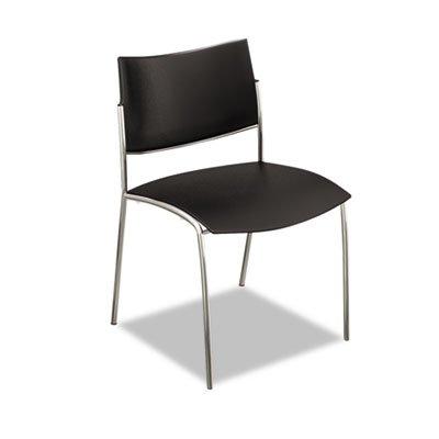 Mayline Escalate Series Chair, 4 per Carton, Black Polypropylene