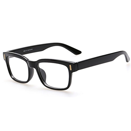 Rnow Premium Unisex Retro Square Frame Eyeglasses Fashion Optical - Eyewear For Men Fashion