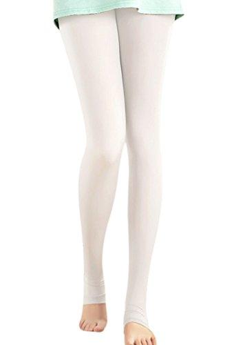 - Women's Soft Leggings Golf Sun Protection Pants Leggings Compression Stockings White