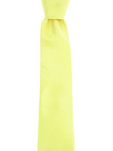 Sean John Men's Yellow Dotted Tie