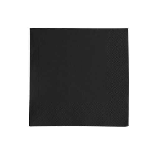 Black Lillian Tablesettings 21035 40 Count 3-Ply Paper Beverage Napkins