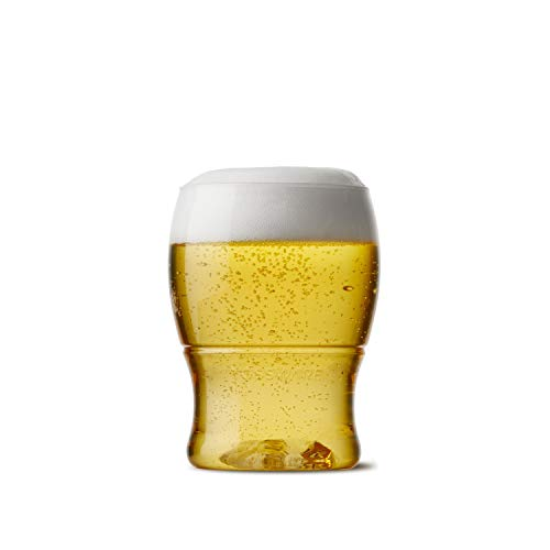 TOSSWARE 7oz Pint Mini- recyclable beer plastic cup - SET OF 48 - stemless, shatterproof and BPA-free beer glasses