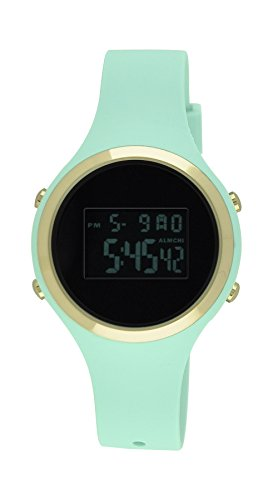 Moulin Ladies Pastel Color Digital Jelly Watch Dark Screen Mint #03158-77473