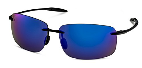 Black Frame/Blue Flash Mirror Lens Stylle - Sunglasses Stylle