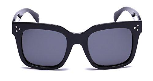 PRIVÉ REVAUX The Heroine Handcrafted Designer Oversized Polarized Sunglasses