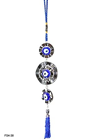 Reiki Crystal Products Feng Shui Evil Eye, Car & Door/Office Hanging for Good Luck and Prosperity