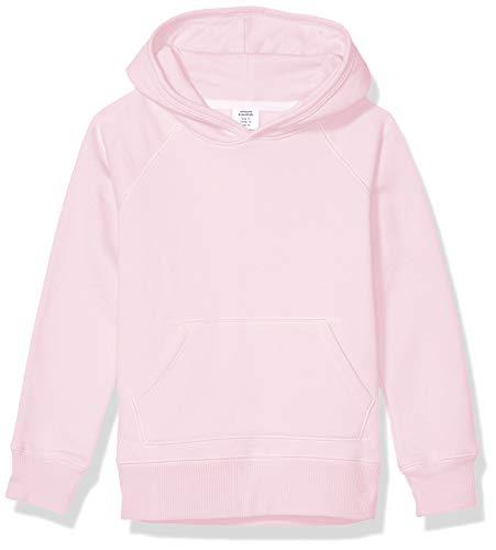 Amazon Essentials Girl's Pullover Hoodie Sweatshirt, Light Pink, Medium (Pullover Hoodies Pink)