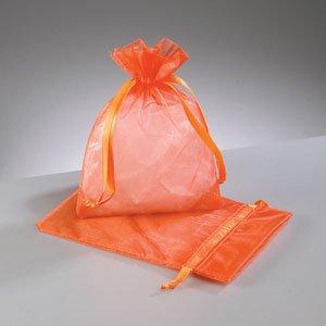 Naranja, 50 bolsas de Organza 9 x 12 cm, diseño de cuadros ...