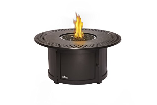 Napoleon Grills Kensington Round Patioflame Table, Rustic Bronze (Automatic Fire Pit)