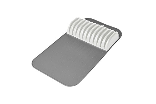 Madesmart - Safe in-Drawer Knife Mat with Soft Grip Slot in Grey Color, Holds up to 11 Knives by Made Smart