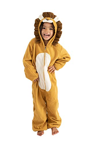 Cuddle Club Fleece Baby Bunting Bodysuit for Newborn to 4T - Infant Winter Jacket Coat Toddler Costume - LionBrown0-3m