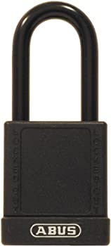 ABUS 74/40 KD Safety Lockout Non-Conductive Keyed Different Padlock with 1-1/2-Inch Shackle, Black
