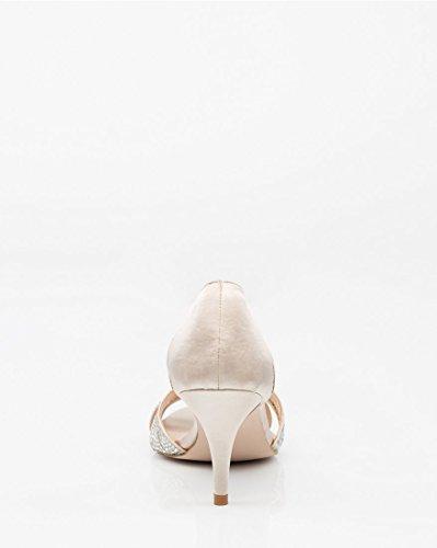 Jewel Women's Nude D'Orsay Satin Sandal Embellished CHÂTEAU LE UT5na7qEq
