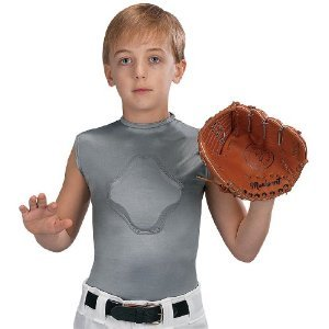 Markwort Youth Heart-Gard Protective Body Shirt, Grey, Youth X-Large