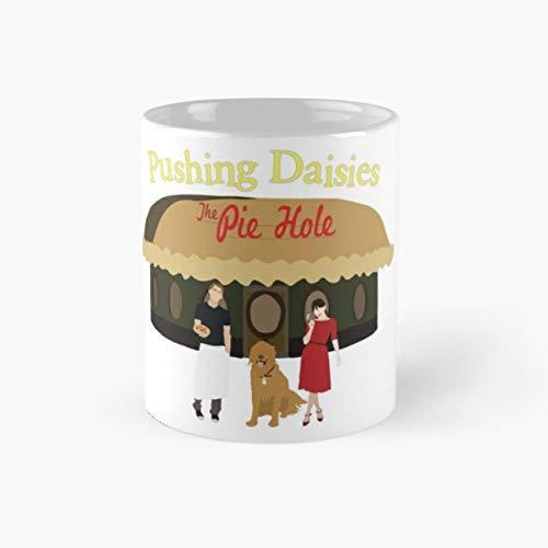 Pushing Daisies Minimalist Print Mug, ned Cup, 11 Ounce Ceramic Mug, Perfect Novelty Gift Mug, Funny Gift Mugs, Funny Coffee Mug 11oz, Tea Cups 11oz ()