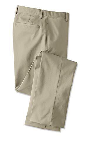 Orvis Men's Trim Fit Wrinkle-Free Cotton Stretch Chinos, Khaki, Cuffed, 33W X 33L
